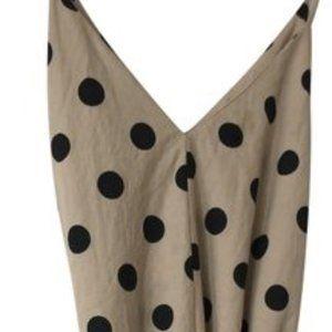 Zara Beige with Black Polka Dots
